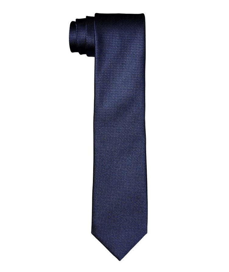 Bird's Eye Printed Silk Tie image 0