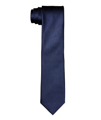 Canali Bird's Eye Printed Silk Tie