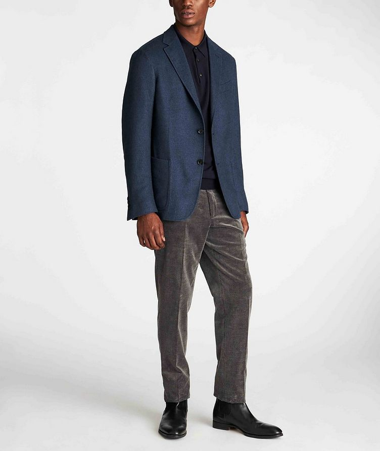 Long-Sleeve Wool-Cashmere Polo image 4