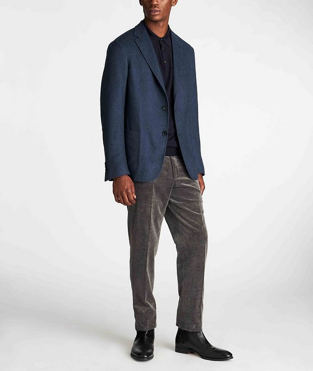 Long-Sleeve Wool-Cashmere Polo picture 5
