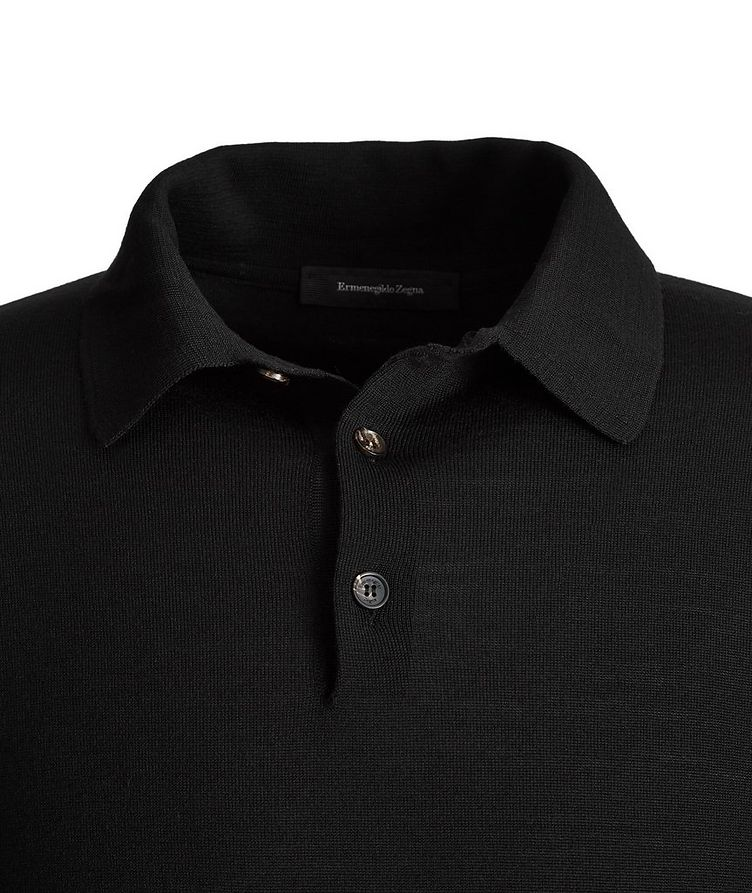 Long-Sleeve Wool-Cashmere Polo image 1