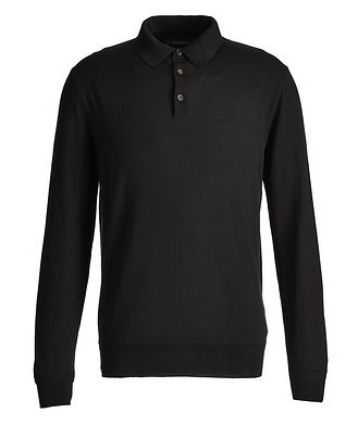 Ermenegildo Zegna Long-Sleeve Wool-Cashmere Polo