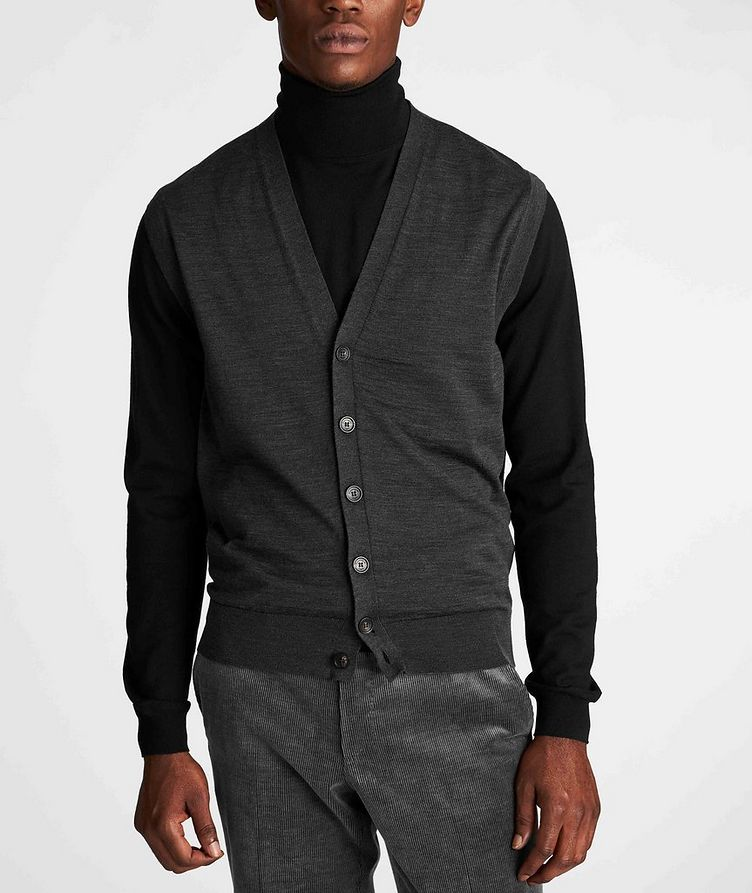 Button-Up Wool Vest image 1