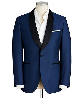 Atelier Munro Slim Fit Bird's Eye Wool-Mohair Cocktail Jacket