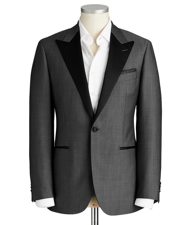 Slim Fit Bird's Eye Wool-Mohair Cocktail Jacket image 0