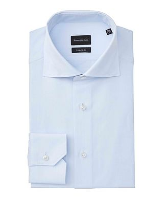 Ermenegildo Zegna Slim Fit Striped Trecapi Dress Shirt