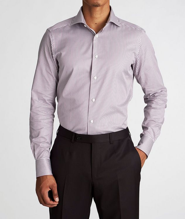 Slim Fit Striped Trofeo-Cotton Dress Shirt picture 2