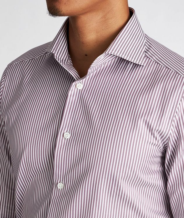 Slim Fit Striped Trofeo-Cotton Dress Shirt picture 4