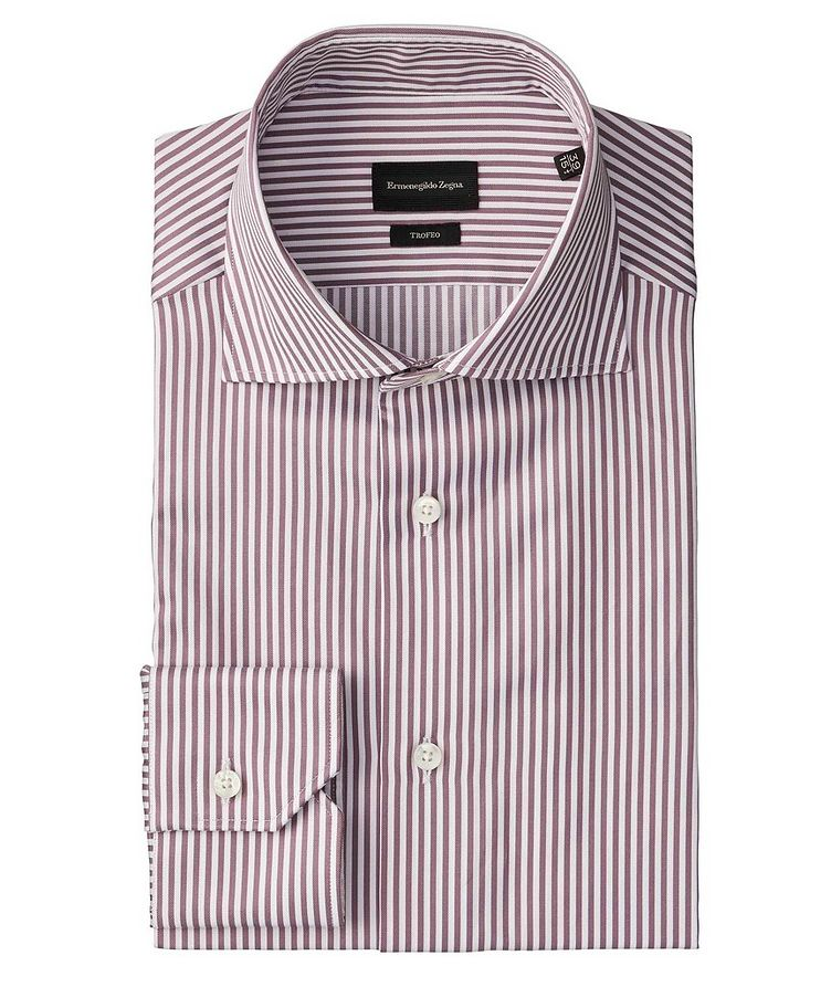 Slim Fit Striped Trofeo-Cotton Dress Shirt image 0