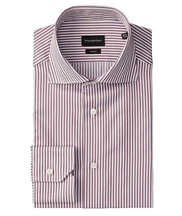 Slim Fit Striped Trofeo-Cotton Dress Shirt picture 1