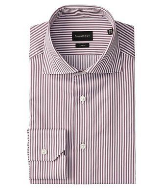 Ermenegildo Zegna Slim Fit Striped Trofeo-Cotton Dress Shirt