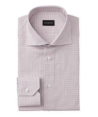 Ermenegildo Zegna Slim Fit Checked Cotton Dress Shirt