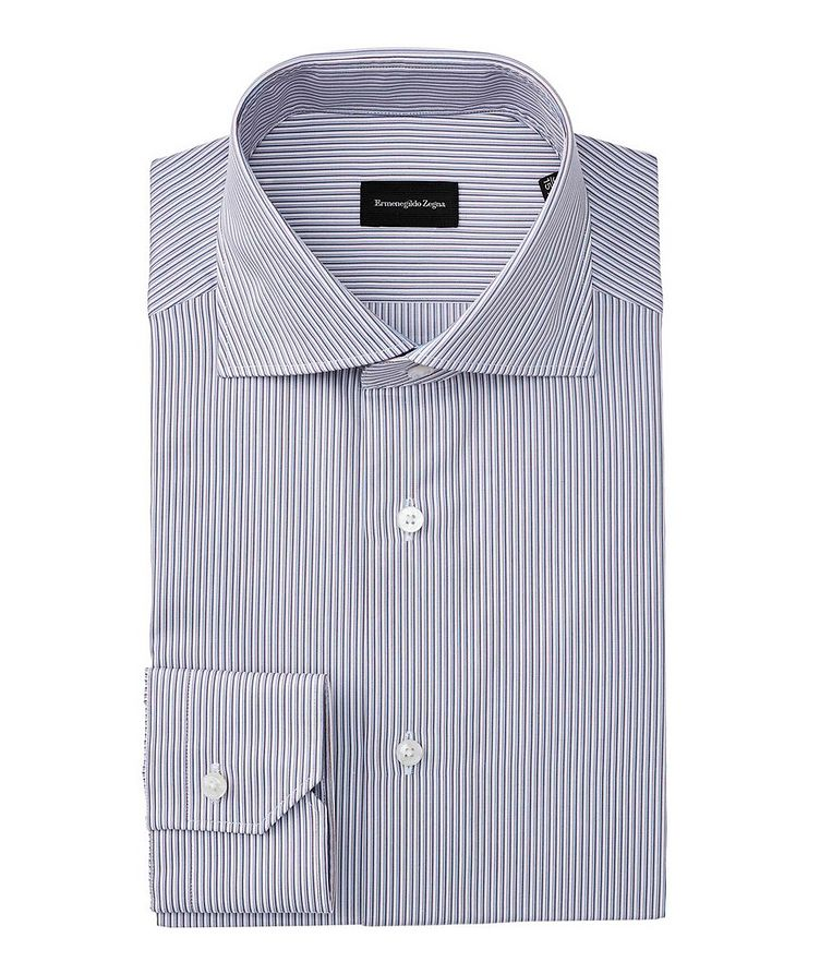 Slim Fit Striped Dress Shirt image 0