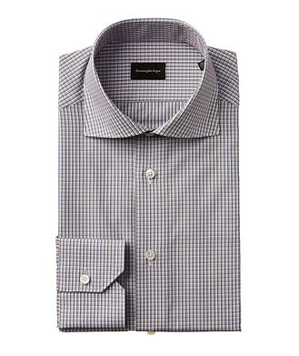 Ermenegildo Zegna Slim Fit Checked Dress Shirt