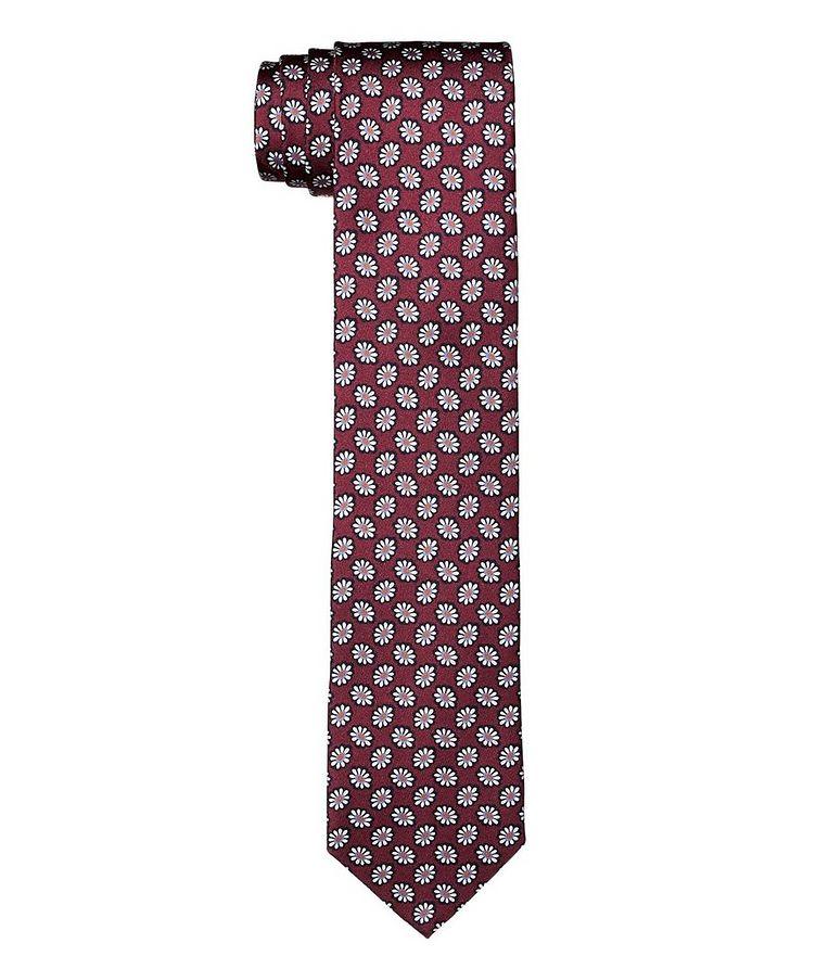 Botanical Printed Silk Tie image 0