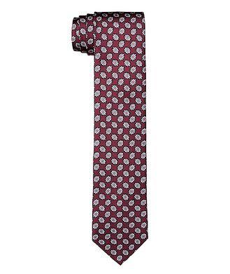 Canali Botanical Printed Silk Tie