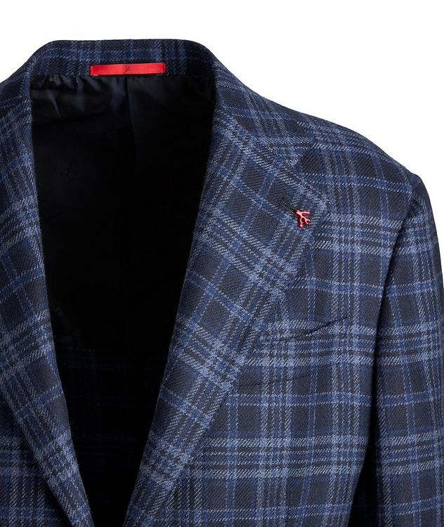 Checked Cashmere Sports Jacket picture 3