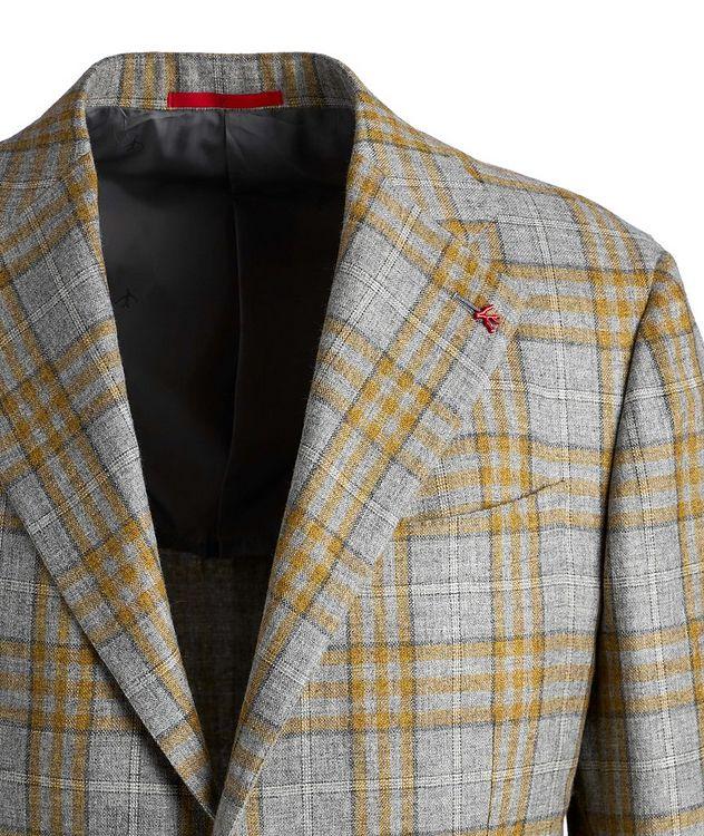 Plaid Cashmere-Silk Sports Jacket picture 3