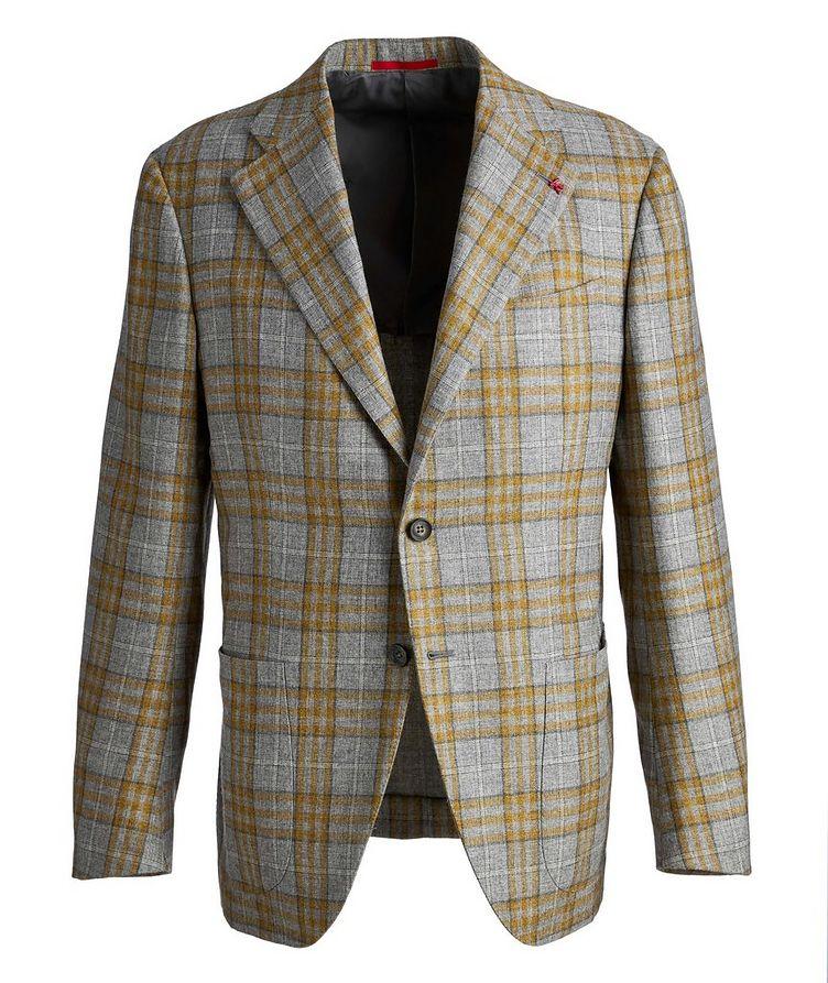 Plaid Cashmere-Silk Sports Jacket image 0