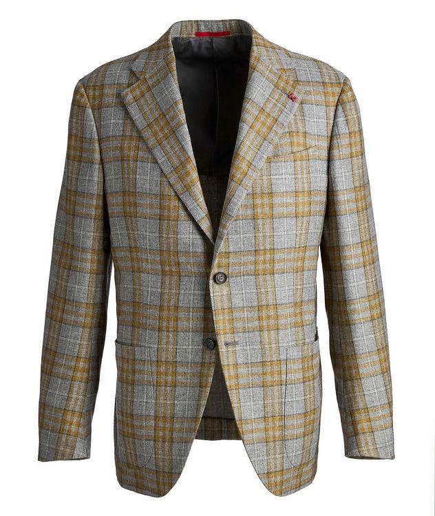Plaid Cashmere-Silk Sports Jacket picture 1