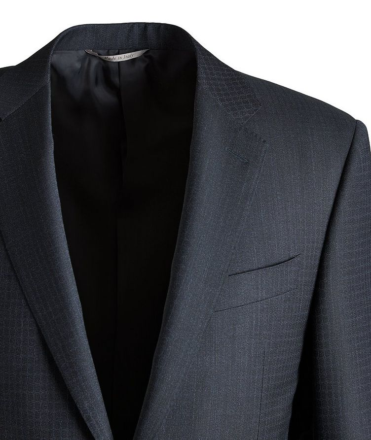 Slim-Fit Checked Wool Suit image 2