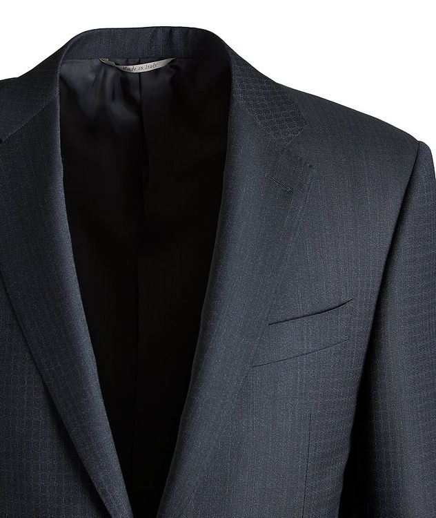 Slim-Fit Checked Wool Suit picture 3
