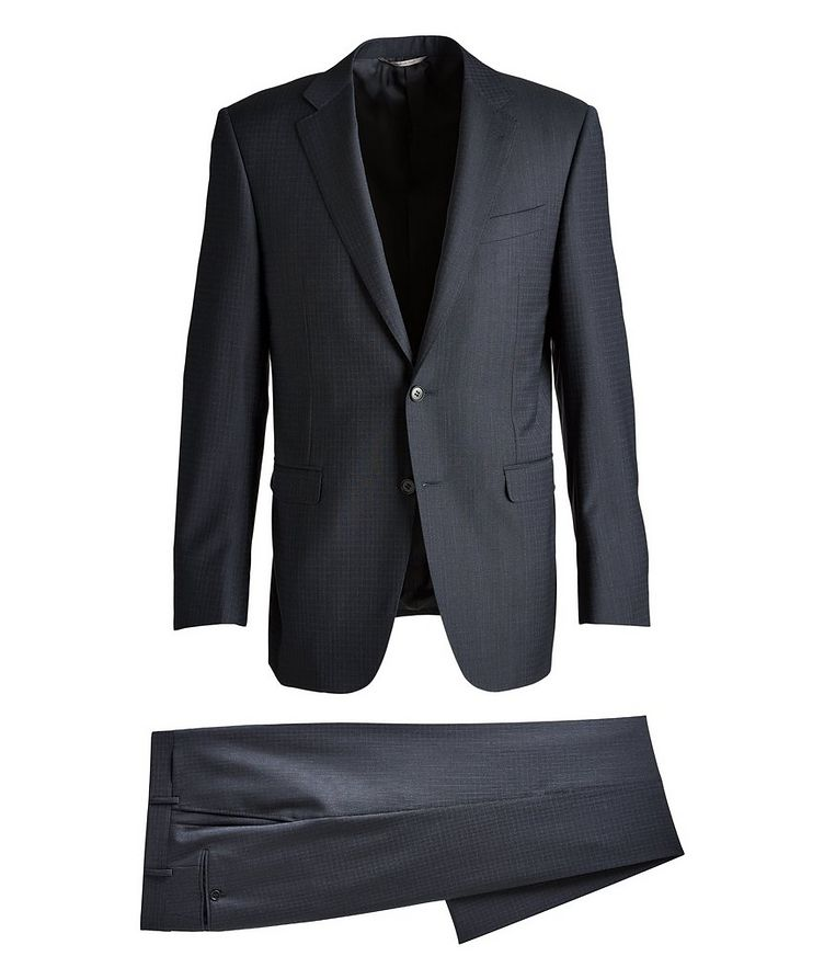 Slim-Fit Checked Wool Suit image 0