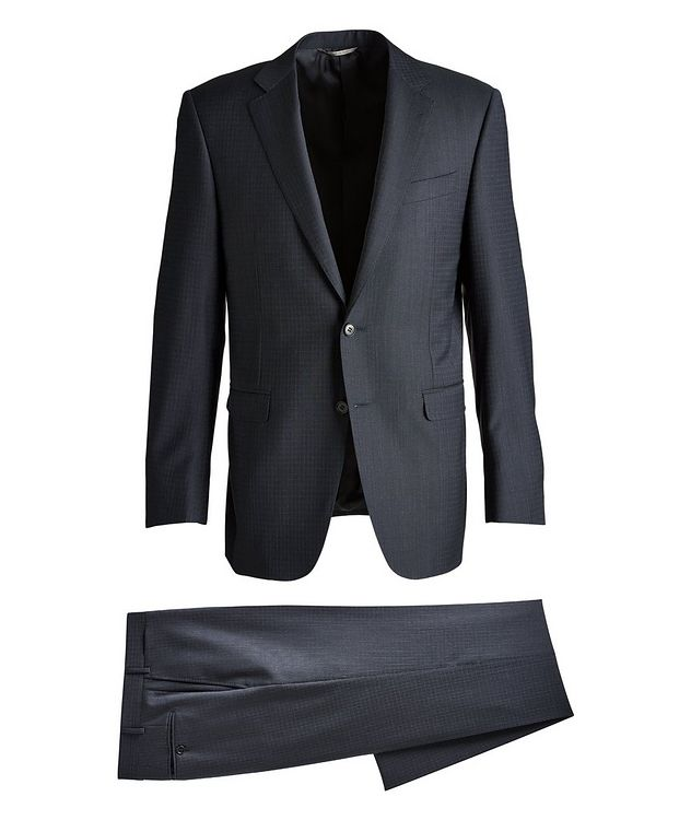 Slim-Fit Checked Wool Suit picture 1