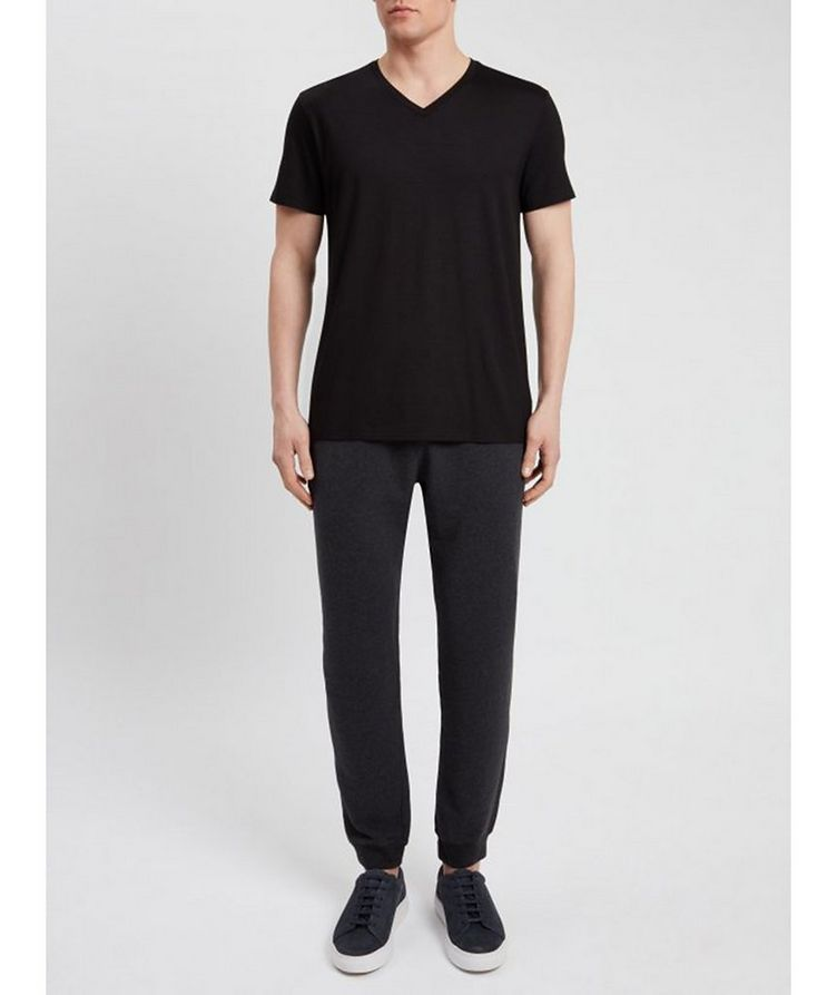 T-shirt en coton à encolure en V, collection Resort image 2