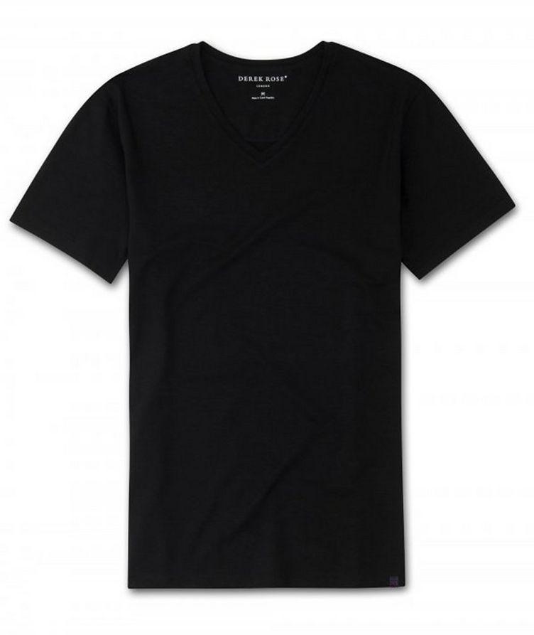 T-shirt en coton à encolure en V, collection Resort image 0