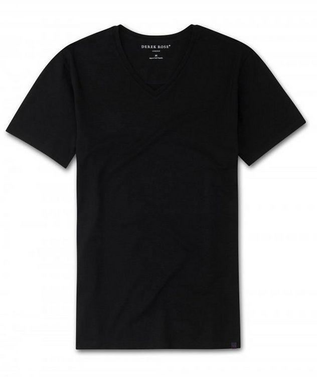 T-shirt en coton à encolure en V, collection Resort picture 1