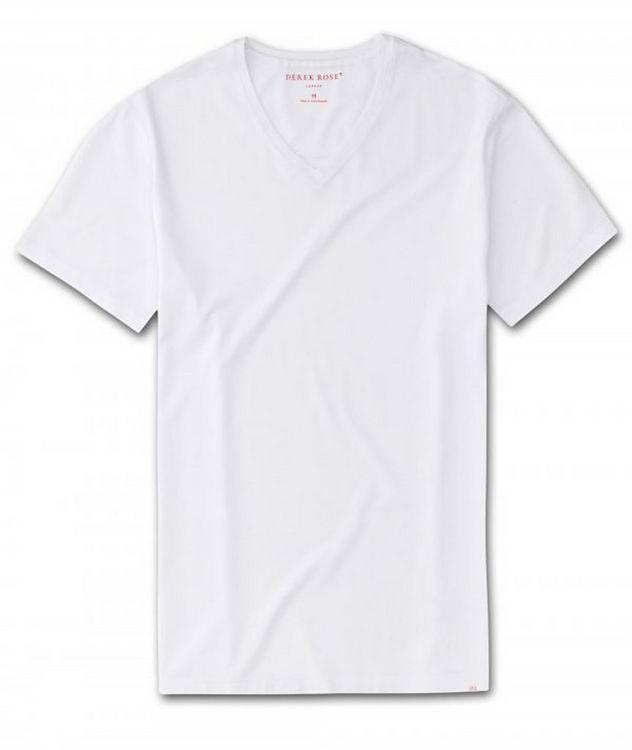Resort V-Neck Cotton T-Shirt picture 1