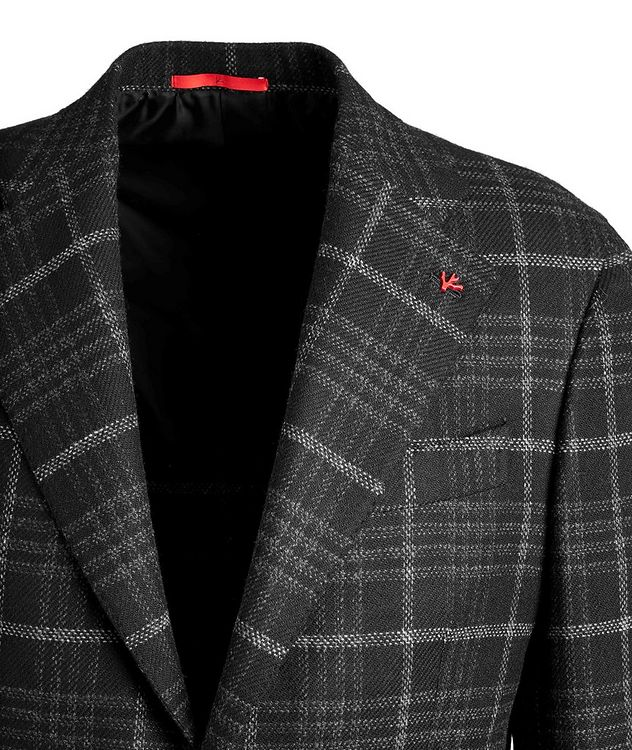 Checked Wool Cashmere Sports Jacket picture 3