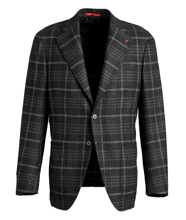 Checked Wool Cashmere Sports Jacket picture 1