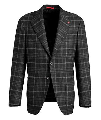 Isaia Checked Wool Cashmere Sports Jacket