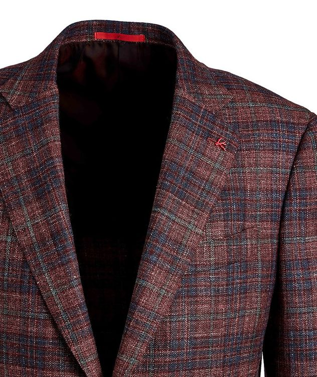 Checked Wool, Silk & Linen Sports Jacket picture 3