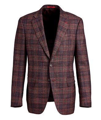 Isaia Checked Wool, Silk & Linen Sports Jacket
