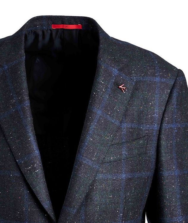 Windowpane Checked Cashmere Silk  Sports Jacket picture 3