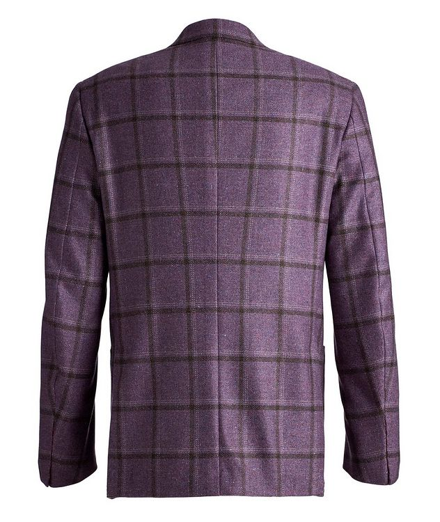 Windowpane Checked Cashmere-Silk Sports Jacket picture 2