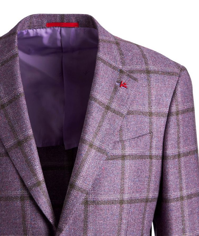 Windowpane Checked Cashmere-Silk Sports Jacket image 2