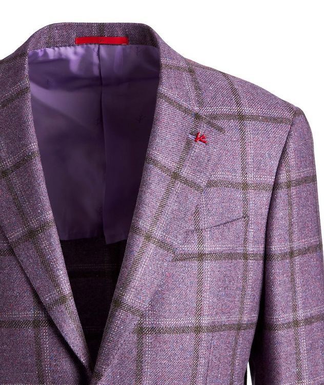 Windowpane Checked Cashmere-Silk Sports Jacket picture 3
