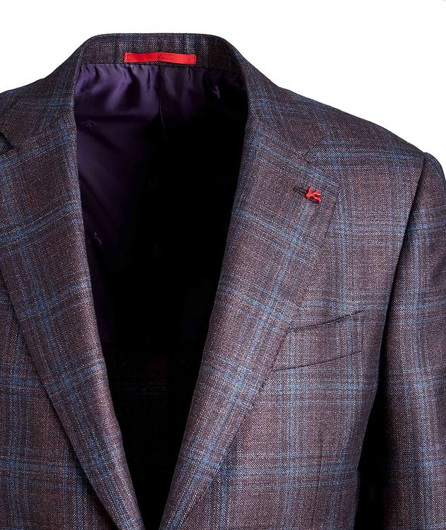 Checked Silk Cashmere Sports Jacket picture 3
