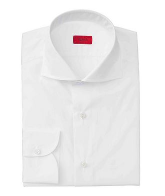 Isaia Contemporary Fit Cotton Dress Shirt