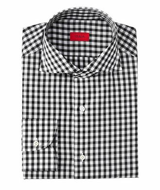 Isaia Contemporary Fit Gingham Dress Shirt