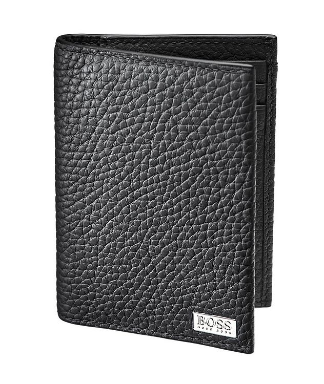 Crosstown Tumbled Leather Money Clip Bifold picture 1