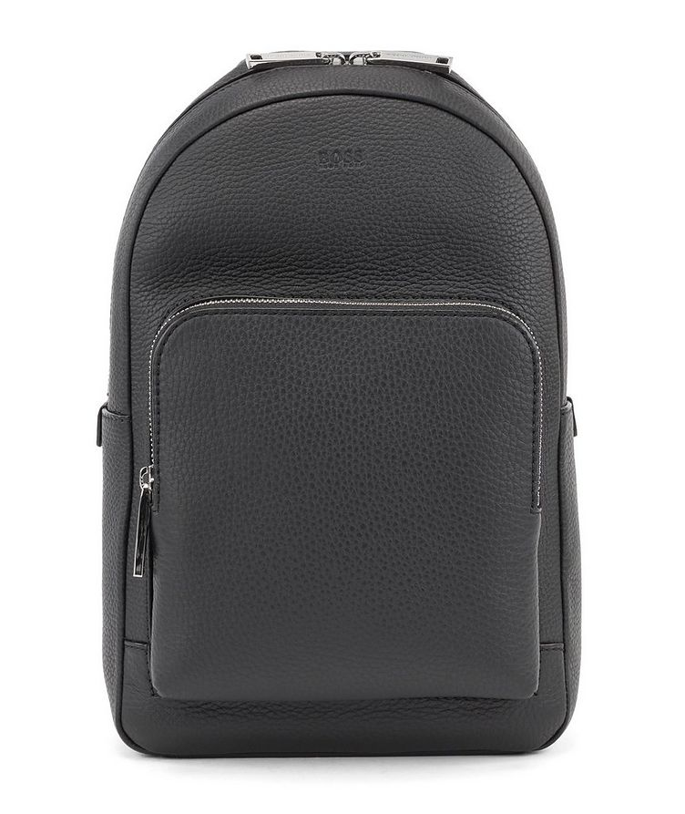 Crossbody Leather Backpack image 0