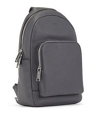 BOSS Crossbody Leather Backpack