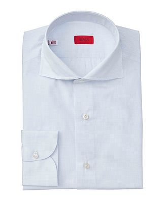 Isaia Contemporary Fit Checkered Dress Shirt