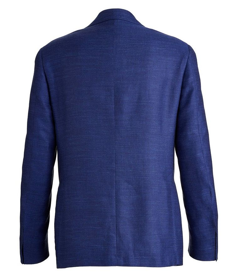 Kei Crosshatched Wool, Silk, and Linen Sports Jacket image 1
