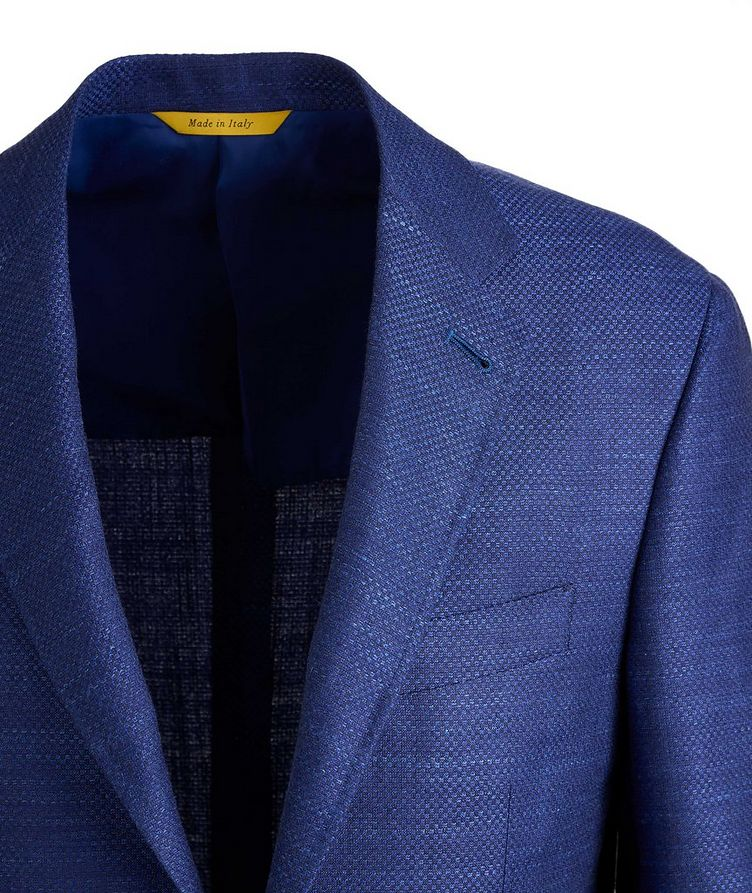 Kei Crosshatched Wool, Silk, and Linen Sports Jacket image 2